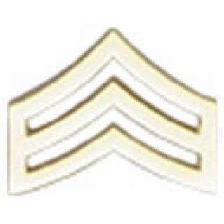 "Pairs - Sgt. Chevron - Regular 1"" - 2 Clutch - Black-"