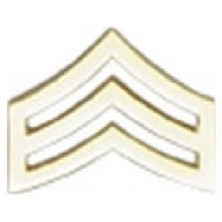 "Pairs - Sgt. Chevron - Regular 1"" - 2 Clutch - Gold-"