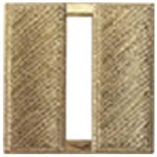 "Pairs - Captain Bars - Corrugated - Regular 1"" - 2 Clutch - Gold"