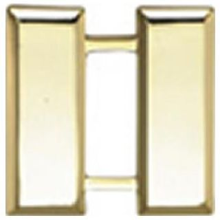 "Pairs - Captain Bars - Smooth - Regular 1"" - 2 Clutch - Gold"