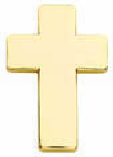 "Pairs - Chaplain Cross - 1"" - Gold-Hero's Pride"