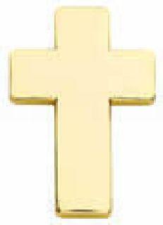 "Pairs - Chaplain Cross - 1"" - Nickel-Hero's Pride"