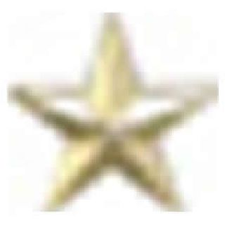 "Pairs - Single 7/32"" Star -1 Clutch - Gold-"