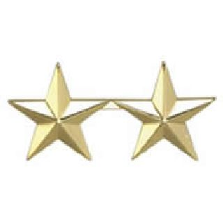"Pairs - Two 1"" Stars - 2 Clutch - Gold-"