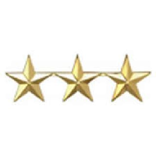 "Pairs - Three 1"" Stars - 2 Clutch - Gold-"