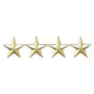 "Pairs - Four 1"" Stars - 2 Clutch - Gold-Hero's Pride"