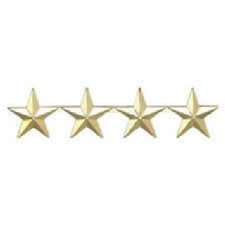 "Pairs - Four 1"" Stars - 2 Clutch - Nickel-Hero's Pride"
