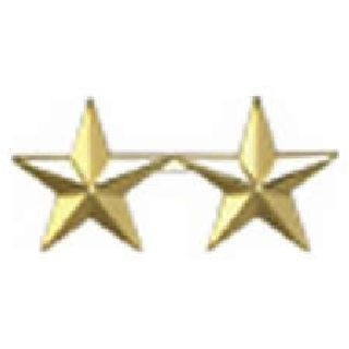 "Pairs - Two 1/2"" Stars - 2 Clutch - Gold-Hero's Pride"
