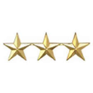 """Pairs - Three 1/2"""" Stars - 2 Clutch - Gold-Hero's Pride"""