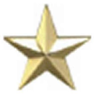 "Pairs - One 5/8"" Star - Gold-"
