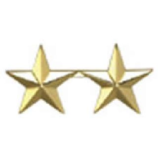"Pairs - Two 5/8"" Stars - 2 Clutch - Gold-Hero's Pride"