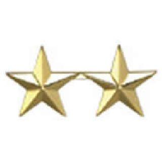 """Pairs - Two 5/8"""" Stars - 2 Clutch - Nickel-Hero's Pride"""
