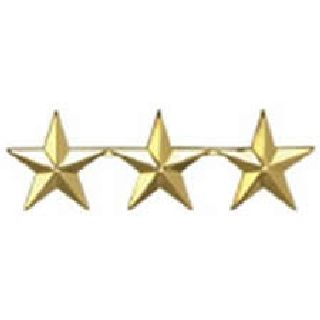 "Pairs - Three 5/8"" Stars - 2 Clutch - Black-Hero's Pride"