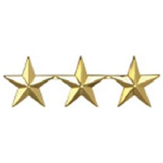 "Pairs - Three 5/8"" Stars - 2 Clutch - Gold-"