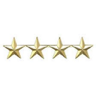 "Pairs - Four 5/8"" Stars - 2 Clutch - Black-Hero's Pride"