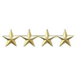 "Pairs - Four 5/8"" Stars - 2 Clutch - Gold-Hero's Pride"