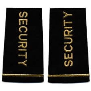 Pair - Security - Metallic Gold On Black