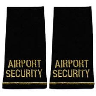 Pair - Airport Security - Metallic Gold On Black