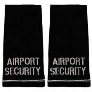 Pair - Airport Security - Metallic Silver On Black-