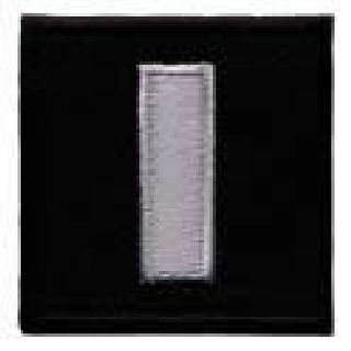 "Pairs - Lt - Silver On Black - 1-1/2 X 1-1/2""-"