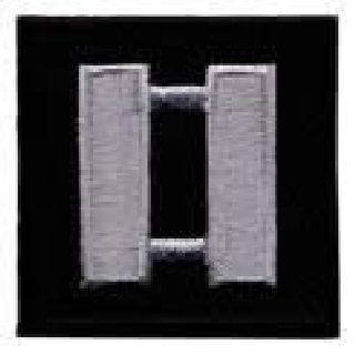 "Pairs - Capt - Silver On Black - 1-1/2 X 1-1/2""-"