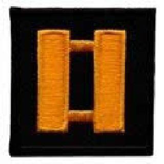 """Pairs - Capt - Dk Gold On Black - 1-1/2 X 1-1/2""""-Hero's Pride"""