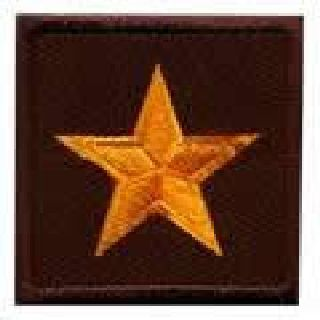 "Pairs - 1 Star General - Dk Gold On Brown - 1-1/2 X 1-1/2""-"