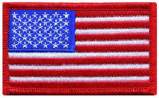 U.S. Flag - Red Border - 3-3/8 X 2""