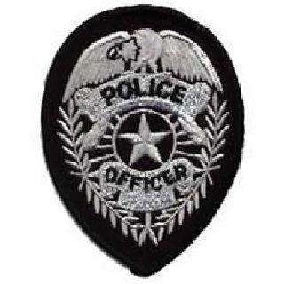 Police Officer Badge - Silver On Black-Hero's Pride