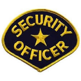 Security Officer - Med Gold/Navy Blue-