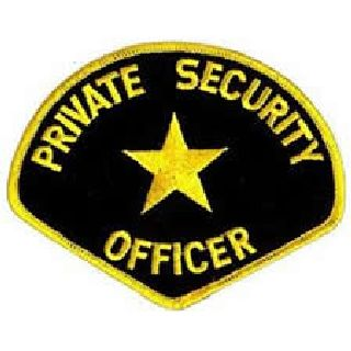 Private Security Officer - Med Gold/Black-