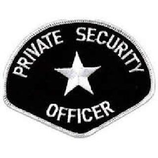 Private Security Officer - White/Black-