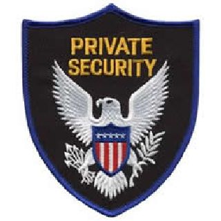 Private Security - Royal Blue Border-