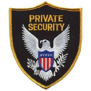 Private Security - Gold Border-