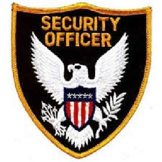 Security Officer - Dark Gold Border-