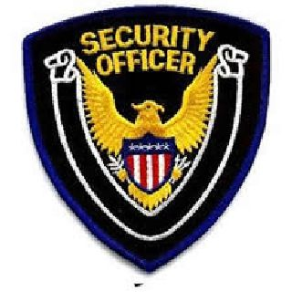 "Security Officer - Royal Border/Black Twill - 4 X 4""-Hero's Pride"