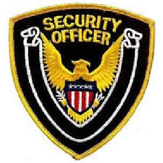 "Security Officer - Gold Border/Black Twill - 4 X 4""-Hero's Pride"