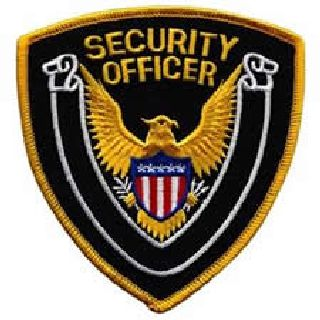 "Security Officer - Gold Border/Dk Navy Twill - 4 X 4""-Hero's Pride"