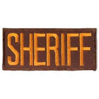 "Sheriff - Dk. Gold/Brown - 4 X 2"" - Heat Seal'able"