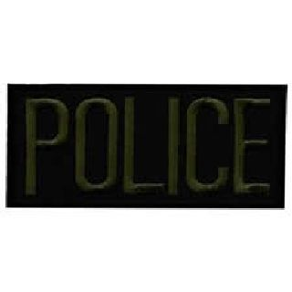 "Police - O.D. On Black - 4 X 2"" - Heat Seal'able-Hero's Pride"