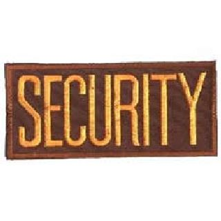 "Security Dk. Gold On Brown - 4 X 2"" - Heat Seal'able-Hero's Pride"