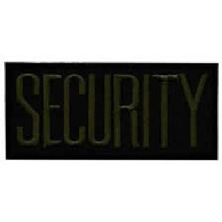 "Security - O.D. On Black - 4 X 2"" - Heat Seal'able-Hero's Pride"