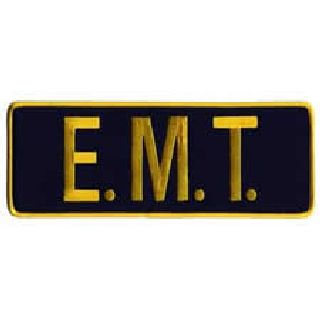 "E. M. T. - Med Gold On Navy - Back Patch - 11 X 4""-Hero's Pride"