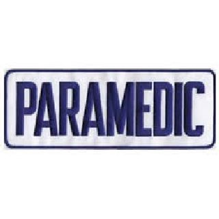 "Paramedic - Royal Blue On White - Back Patch - 11 X 4""-"