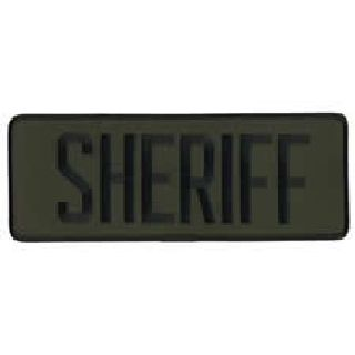 "Sheriff - Black/Olive Drab - Back Patch - 11 X 4""-Hero's Pride"