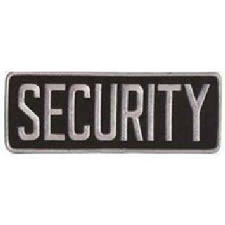 """Security - Back Patch - Grey On Black - 11 X 4""""-"""