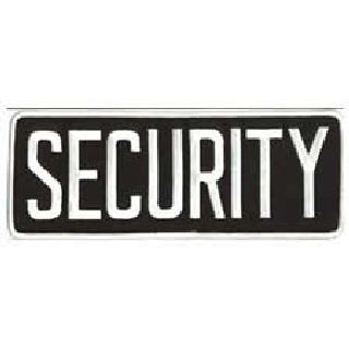 "Security - Back Patch - White On Black - 11 X 4""-"