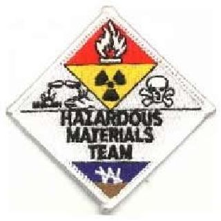 "Hazardous Materials Team - 3 X 3"" (At Points)-Hero's Pride"