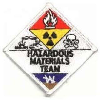 "Hazardous Materials Team - 3 X 3"" (At Points)-"