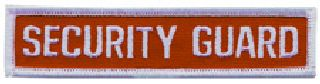 "Security Guard - White/Red - 4-1/2"" X 1""-Hero's Pride"